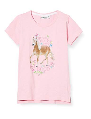 Salt & Pepper Mädchen 03112273 T-Shirt, Rosa (Soft Pink 824), 116 (Herstellergröße: 116/122)