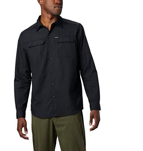 Columbia Men's Big and Tall Silver Ridge 2.0 Long Sleeve Shirt, Black, 5X