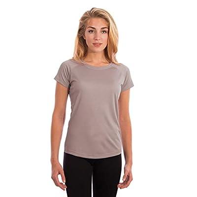 Vapor Apparel Women's UPF 50+ UV Sun Protection Short Sleeve Performance T-Shirt for Sports and Outdoor Lifestyle, Medium, Athletic Grey