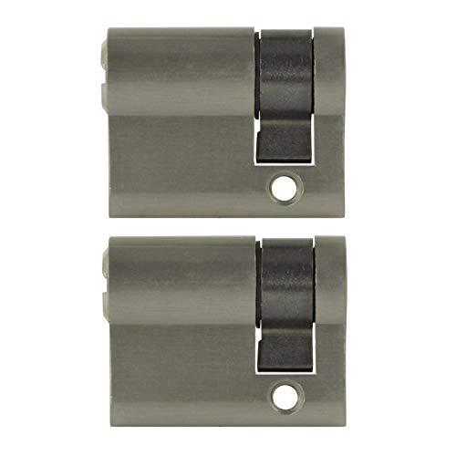 2x Halbzylinder 40 mm gleichschließend 30/10 inkl. 5 Schlüssel