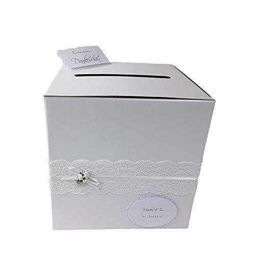 Briefbox - Geschenktruhe in Weiß Vintage Hochzeit
