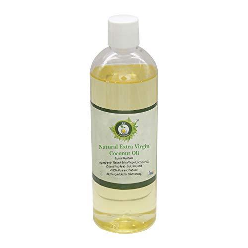 R V Essential Huile de noix de coco extra vierge naturelle 100ml (3.38oz) - Cocos Nucifera (100% pur et naturelle pressée à froid) Natural Extra Virgin Coconut Oil