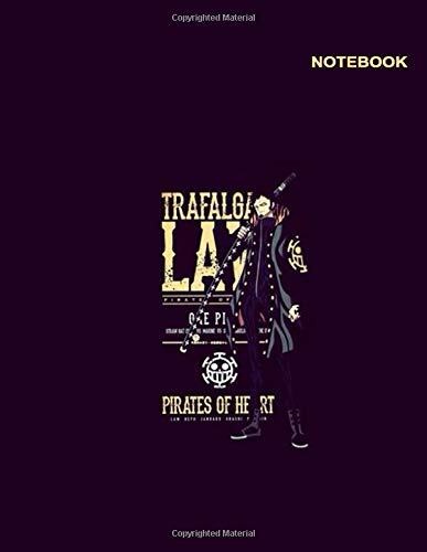 One Piece Anime notebook: College Ruled paper, 110 pages [55 sheets], 8.5 x 11, Zoro Trafalgar Law One Piece Notebook Cover.