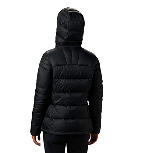 Columbia Women's Centennial Creek Down Hooded Jacket, Black ,Medium