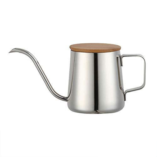 Amazing Deal Shentesel Coffee Pot Stainless Steel Long Narrow Spout Wood Lid Pour Over Gooseneck Ket...