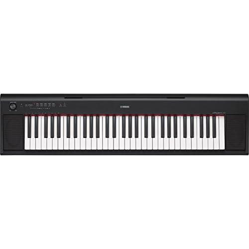 Yamaha Digital Keyboard Piaggero NP-12B – Tastiera Digitale Portatile con 61 tasti ideale per principianti – Design compatto e leggero, facile da usare e trasportare – Nero