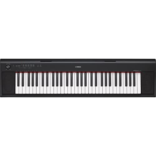 Yamaha Digital Keyboard Piaggero NP-12B, Tastiera Digitale Portatile con 61 Tasti Ottima per Principianti, Design Compatto e Leggero, Facile da Usare e Trasportare, Nero
