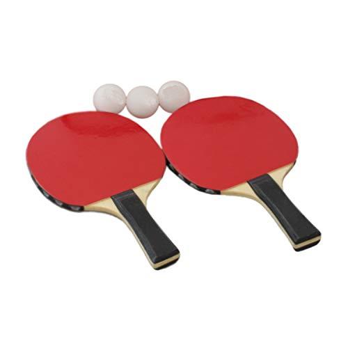 Megaprom 5 TLG. Tischtennisschläger, Tischtennisschlaeger, Tischtennis Schläger, Ping Pong Bälle, Tischtennis Set - mit 3X Tischtennisbälle