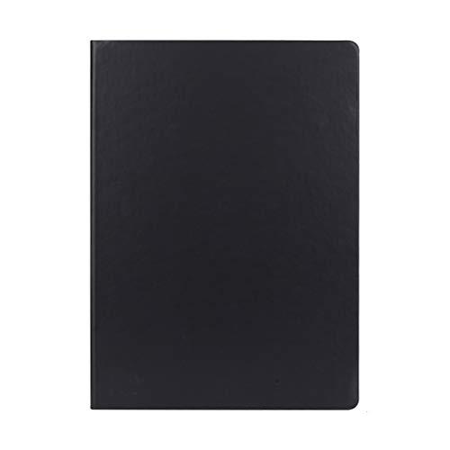hsj Cuaderno ordenado simple grueso y exquisito cuaderno de estudio, bloc de notas de oficina ordenado (color: negro, tamaño: 21 x 29,7 cm)