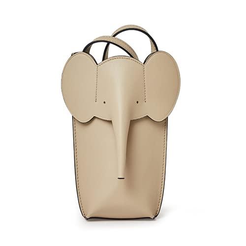 Bolso Bandolera para teléfono móvil-Bolso Multicolor de Cuero PU para Mujer con Correa Ajustable (Khaki,One Size)