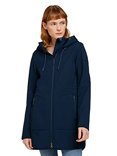 TOM TAILOR 1024460 Softshell Cappotto, 10668-Sky Captain Blue, M Donna