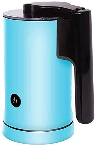 Espumador Leche Milk Frother Calentador De Leche Batidora Leche Espuma Calienta Leche Electrico Calentador de Leche de Doble Pared, Control Interior Antiadherente de Temperatura fría y Caliente TREEE