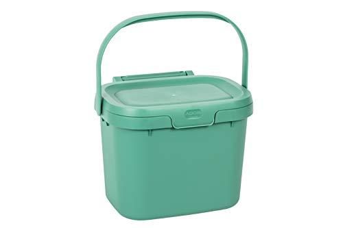 Addis Everyday Kitchen Komposteimer, 4,5 l, Salbeigrün, Plastik, 4.5 Litre