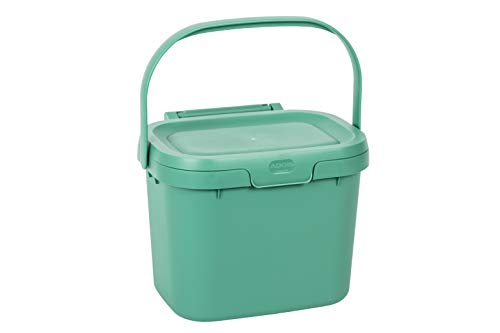 Great Price! Addis Everyday Kitchen Food Waste Compost Caddy Bin, 4.5 Litre, Sage Green