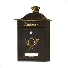 HEIBI (ハイビ) クラシカルポストB 郵便ポスト 壁掛けタイプ 鍵付き おしゃれ アンティーク 大型 北欧 ポスト 郵便受け ブラック