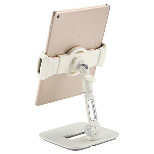 Bracwiser Adjustable Tablet Phone Holder Stand for 4.7-11 inch iPad, iPad Air, iPad Pro, Samsung Tabs, and Phones (YFD108W)