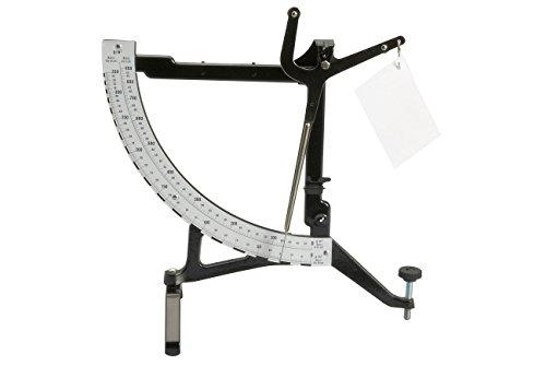 Maul 1880990 papierweegschaal, draagkracht fijn, 350 g/m², grof 900 g/m², nostalgische weegschaal, mechanisch, zwart, 1 stuk