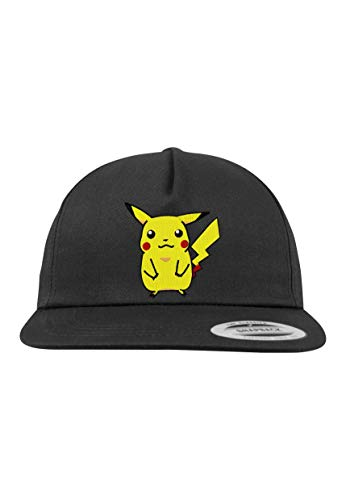 Youth Designz 5-Panel Kinder Junior Cap Modell Pikachu Pokemon, Schwarz, B10b