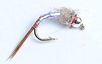 Blue Wing Olive Tungsten BH Rainbow Warrior Nymph Fly, 6-Pack
