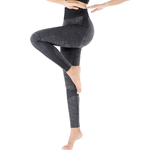 High Waist Yoga Pants for Women, Tummy Control, Woman's Yoga Workout Leggings for Women 4 Way Stretch Non See-Through Workout Pants (Large) Black