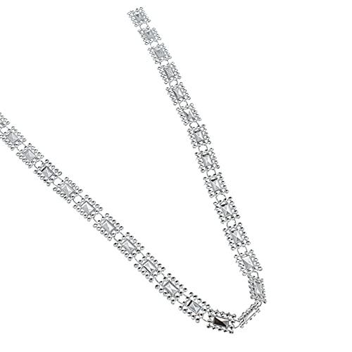 ALXY Coupe en Cristal carrée Chaîne de Ruban Couture Couture Applique Décor Argent 10 mètres (Couleur : Argent)