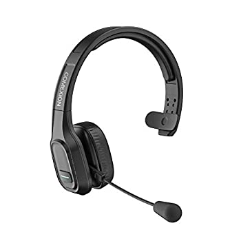 COMEXION Trucker Bluetooth Headset V5.0 Wireless Headphone with Noise Canceling&Mute Microphone for Cell Phones On Ear Bluetooth Headphone with Wireless&Wired Mode for Trucker Home Office Skype