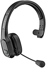 COMEXION Trucker Bluetooth Headset V5.0, Wireless Headphone with Noise Canceling&Mute Microphone for Cell Phones, On Ear Bluetooth Headphone with Wireless&Wired Mode for Trucker, Home Office, Skype
