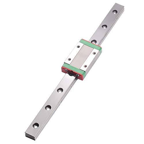 CNC Part MR12 12mm Linear Rail Guide MGN12 Length 200mm with Mini MGN12H Linear Block Carriage Miniature Linear Motion Guide Way (Press The Block to Slide)