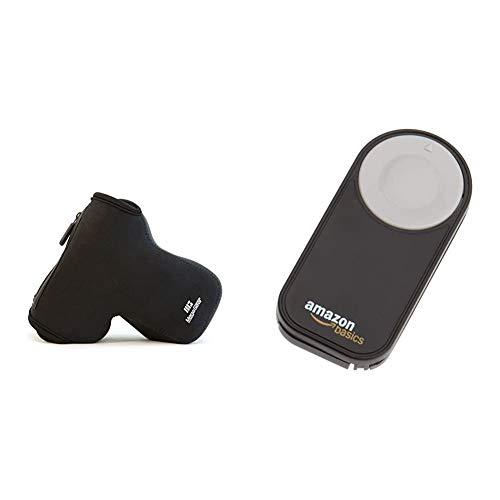 MegaGear Custodia in Neoprene per Nikon D3500, D5600, D3400 (18-105), D5500, D3300, D5300, D5200, D5100 & Amazon Basics Telecomando wireless per fotocamere digitali SRL Nikon P7000, D3000, D40