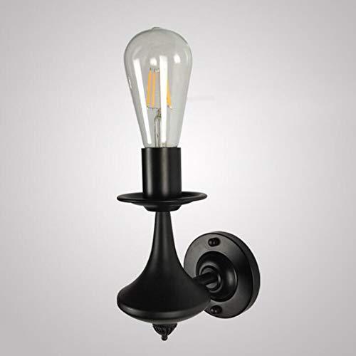 SXFYWYM Wandlamp Iron slaapkamer, bedlampje, eenvoudige woning, creatieve kaars, hoofd aan de muur lamp
