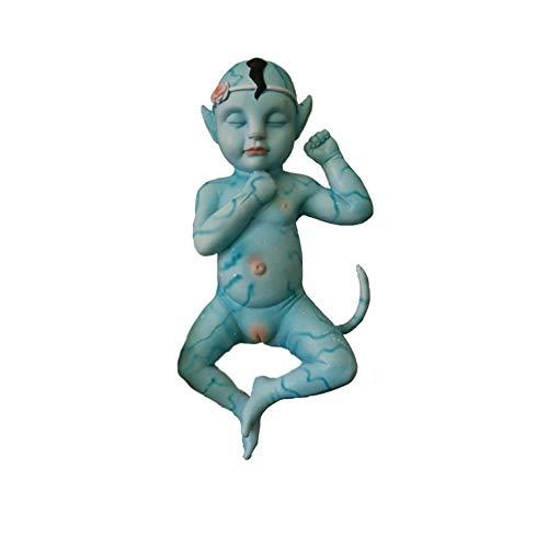 Kurphy 1 Pieza Muñeca de muñeca Azul Brillante Original de Silicona para bebés bajo patrón de bioluminiscencia de luz Ultravioleta Real