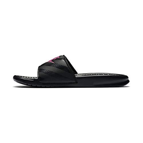 Nike Damen Benassi JDI Dusch- & Badeschuhe, Schwarz (Black/Vivid Pink/Black 061), 40 1/2 EU
