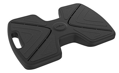 UNILUX 400095456 - Reposapiés móvil Updown negro con función basculante, reposapiés para uso con zapatos o descalzo en negro