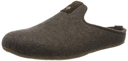 Haflinger Unisex-Erwachsene Lykke Pantoffeln, Braun (braunmeliert 63), 45 EU