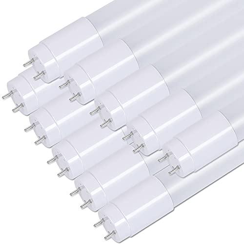 明るさ感最高1600LM 広配角300° 20W形 LED蛍光灯 直管 昼光色 省電力9W 高発光効率177LM/W 日本製高透過カバー使用 AC85V-265V グロー式工事不要 2年保証付き 10本入り