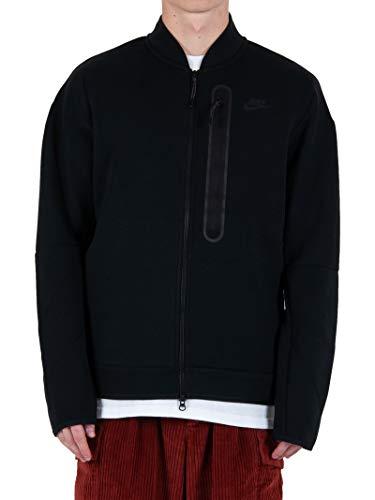 Nike Chaqueta bomber de hombre Tech Fleece, color negro, cód. CZ1797-010 Negro XXL
