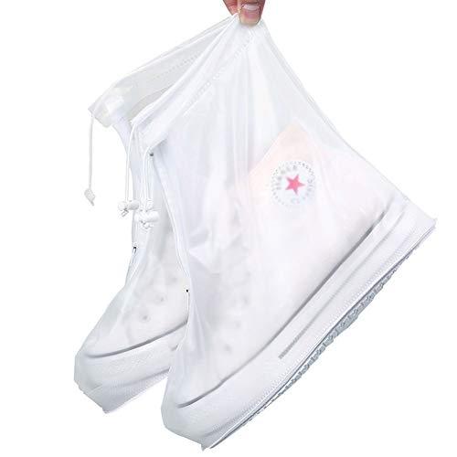 Lesrly-Cycle Cubrezapatos De Silicona, Doble Portable Los Hombres Y Resistente Al Agua Y No Resbalón Las Mujeres Botas Lluvia, Gruesa Y Durable Protección Medio Ambiente Resistentes Desgaste E