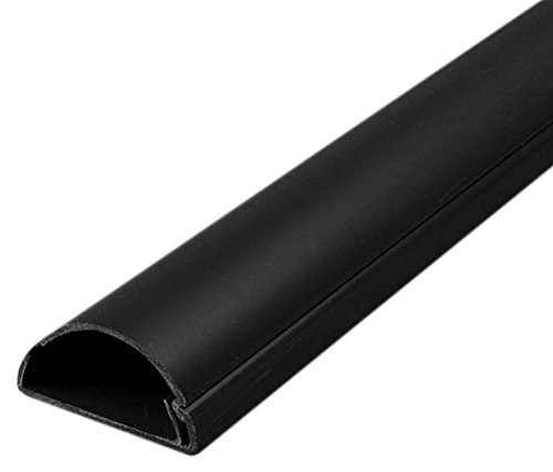 30x15 Decorativo Adhesivo TV Cable Tidy Cubierta Alambre Ocultar Trunk, Trunking (Negro)