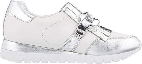 CAPRICE Damen Ibiza Slip On Sneaker, Silber (Silver/White 930), 41 EU