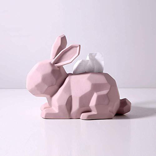 YYhkeby Origami Animal Cover Inhaber, Nordische Keramik-Servietten-Halter-Fall-Organisator, kreative Kaninchen-Form-Gesichtsbehandlung Jialele
