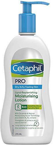 Cetaphil Pro Lipid Replenishing Feuchtigkeitsspendende Körpercreme mit Niacinamid und Ceramid-Technologie, trockene, juckende, empfindliche Haut, neigende Haut, 295 ml