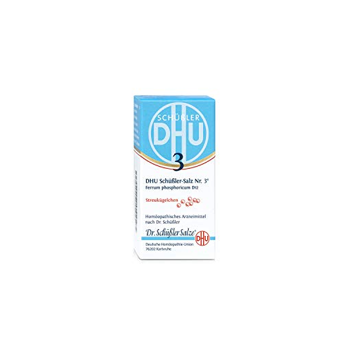 DHU Schüßler-Salz Nr. 3 Ferrum phosphoricum D12 Streukügelchen, 10 g Globuli