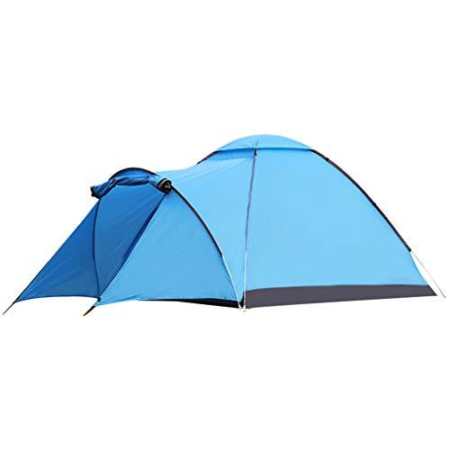 CATRP Marke Tunnelzelt 3-4 Mann Im Freien Wasserdicht Winddicht Familienzelt Tragbar Campingzelt, Blau
