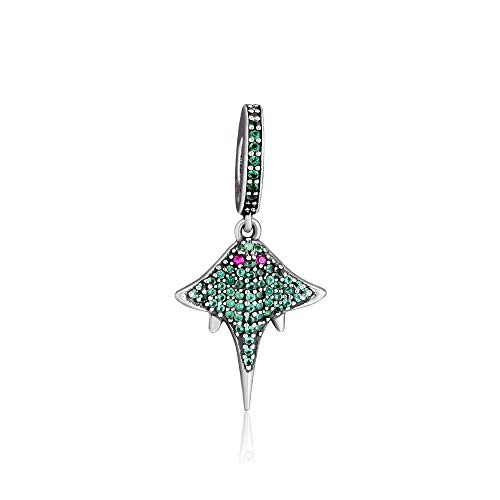 LILANG Pandora 925 Jewelry Bracelet Diseño Natural Cute Tropical Bat Charms Sterling Silver Cz Metal Beads Se Adapta a la fabricación de Kralen Adecuado para Mujeres DIY Gift