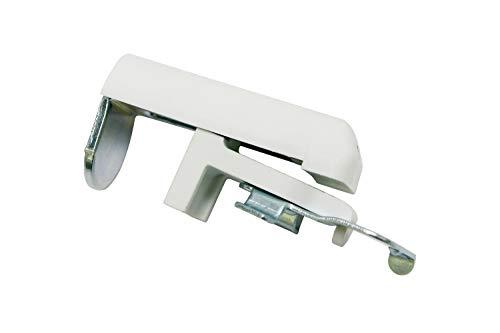 GARDINIA Wspornik zaciskowy do żaluzji z ramą 25 mm, metalowy, biały