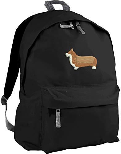 HippoWarehouse Corgi Embroidered Backpack ruck Sack School College uni Bag 31 x 42 x 21 cm Capacity: 18 litres
