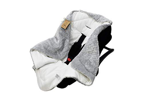 Universelle, weiche Einschlagdecke mit Kapuze für Neugeborene und für Jungen und Mädchen bis ca. 9 Monate. Eignet sich für Kinderwagen, Babyschale, Kindersitz oder Babybett! Ganzjährig nutzbar.