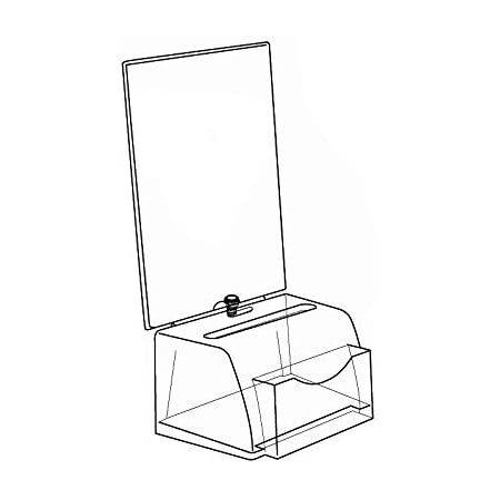 Azar Small Moulded Suggestion Box With Pocket Lock and Key