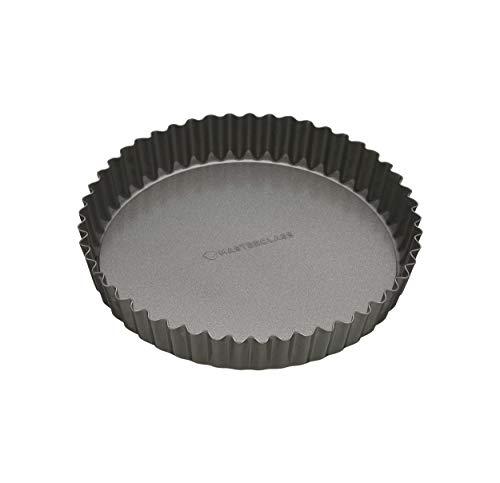 masterclass Antihaft-Tortenbodenform/Quicheform mit gewelltem Rand und losem Boden, Stahl, Grau, 20 x 20 x 3.6 cm