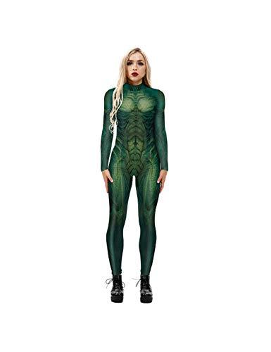 Leezeshaw - Disfraz de mariquita para mujer, disfraz de mariquita en 3D, de Los Vengadores, de Hulk, Ultron, Lycra Unitard, para mujer S-XL